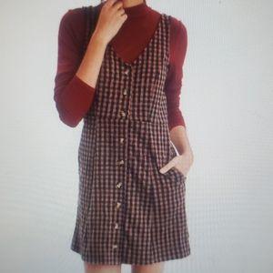 American eagle plaid pocket dress XL